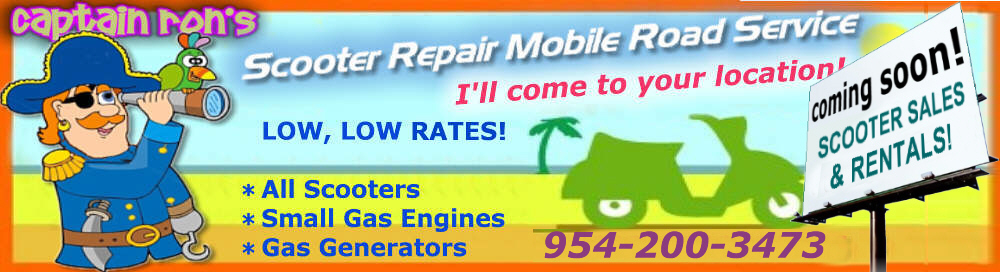 Scooter-repair-mobile-road-service.com -  Broward, Dade, Palm Beach,